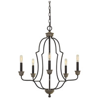Cal Lighting FX-3689-5 Lebrija 5 Light 24 inch Textured Bronze Chandelier Ceiling Light