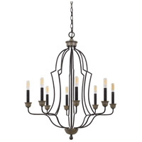 Lebrija 8 Light 29 inch Textured Bronze Chandelier Ceiling Light