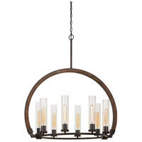 Cal Lighting FX-3691-8 Sulmona 8 Light 25 inch Oak and Iron Chandelier Ceiling Light