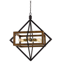 Cal Lighting FX-3694-6 Venosa 6 Light 33 inch Pine and Iron Chandelier Ceiling Light