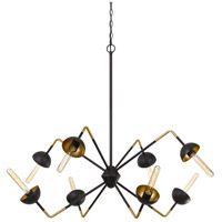 Cal Lighting FX-3697-8 Ravenna 8 Light 40 inch Black Smith Chandelier Ceiling Light