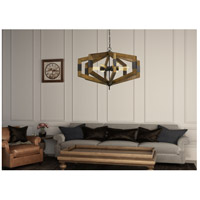 Varna 8 Light 34 inch Pine Wood Chandelier Ceiling Light