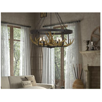 Angelo 5 Light 27 inch Iron Chandelier Ceiling Light, Antler