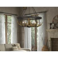 Cal Lighting FX-3703-5 Angelo 5 Light 27 inch Iron Chandelier Ceiling Light Antler