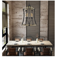 Cal Lighting Iron Wood Metal Chandeliers