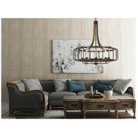 Kellia 9 Light 34 inch Iron and Dark Oak Chandelier Ceiling Light