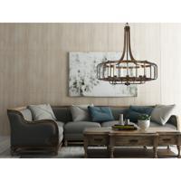Cal Lighting FX-3708-9 Kellia 9 Light 34 inch Iron and Dark Oak Chandelier Ceiling Light