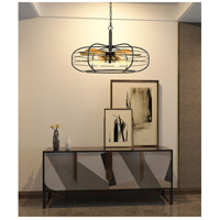 Cal Lighting FX-3711-6 Margo 6 Light 30 inch Dark Bronze Chandelier Ceiling Light, Fan Blade