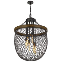 Cal Lighting FX-3718-6 Marion 6 Light 26 inch Bronze with Wood Chandelier Ceiling Light alternative photo thumbnail