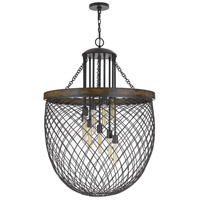 Cal Lighting FX-3718-9 Marion 9 Light 32 inch Bronze with Wood Chandelier Ceiling Light photo thumbnail