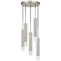 Cal Lighting FX-3723-5P-BS Troy LED 13 inch Brushed Steel Pendant Ceiling Light