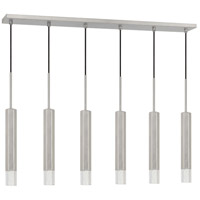 Cal Lighting FX-3723-6P-BS Troy LED 40 inch Brushed Steel Pendant Ceiling Light