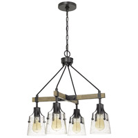 Cal Lighting FX-3735-4 Aosta 4 Light 5 inch Wood and Iron Chandelier Ceiling Light