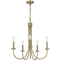Cal Lighting FX-3736-5 Spiez 5 Light 5 inch Antique Brass Chandelier Ceiling Light