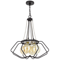Cal Lighting Black/Chrome Metal Chandeliers