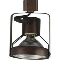 Cal Lighting HT-203-RU Signature 1 Light 120V Rust Track Head Ceiling Light Adjustable