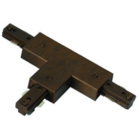 Cal Lighting HT-282-LEFT-RU Cal Track Rust T Connector