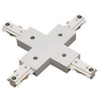 Cal Lighting HT-284-WH Cal Track 7 inch White X Connector