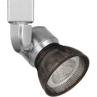 Cal Lighting HT-888BS-MESHRU Signature 1 Light Brushed Steel Track Head Ceiling Light