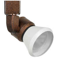 Cal Lighting HT-888RU-CONEWH Signature 1 Light Rust Track Head Ceiling Light