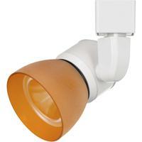 Cal Lighting HT-888WH-AMBFRO Signature 1 Light White Track Head Ceiling Light