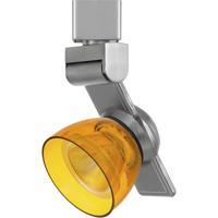 Cal Lighting HT-999BS-AMBCLR Signature 1 Light Brushed Steel Track Head Ceiling Light