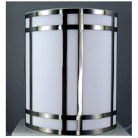 Signature 1 Light 11 inch Brushed Steel Wall Lamp Wall Light
