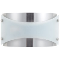 Signature 2 Light 13 inch Brushed Steel Wall Lamp Wall Light