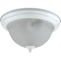 Cal Lighting LA-180L-WH Signature 2 Light 7 inch White Flushmount Ceiling Light