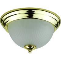 Cal Lighting LA-180S-PB Signature 1 Light 11 inch Plated Brass Flushmount Ceiling Light