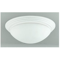 Cal Lighting LA-181L-WH Signature 2 Light 16 inch White Flushmount Ceiling Light