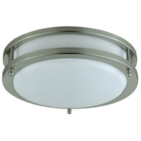 Cal Lighting LA-182S Signature 1 Light 10 inch Brushed Steel Flushmount Ceiling Light, Circular
