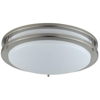 Cal Lighting LA-184-BS Signature 2 Light 14 inch Brushed Steel Flushmount Ceiling Light