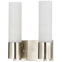 Cal Lighting LA-198-2L Signature 2 Light 10 inch Brushed Steel Wall Light