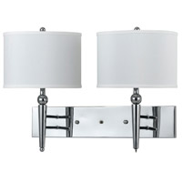 Cal Lighting LA-2007W2L-1CH Signature 2 Light 13 inch Chrome Wall Lamp Wall Light