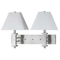 Hotel 2 Light 24 inch Brushed Steel Wall Lamp Wall Light
