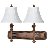 Hotel 2 Light 26 inch Antique Walnut Wall Lamp Wall Light
