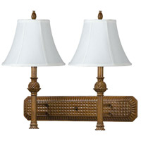 Hotel 2 Light 26 inch Antique Gold Wall Lamp Wall Light