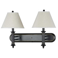 Cal Lighting LA-60007W2L-1R Hotel 2 Light 11 inch Dark Bronze Wall Lamp Wall Light