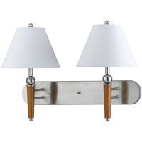 Cal Lighting LA-60008W2L-1BS Hotel 2 Light 26 inch Brushed Steel Wall Lamp Wall Light