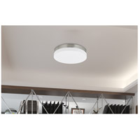 Signature 1 Light 14 inch Brushed Steel Semi Flush Mount Ceiling Light
