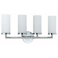 Cal Lighting LA-8504/4 Signature 4 Light 24 inch Chrome Vanity Light Wall Light