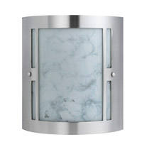 Cal Lighting LA-8509/2L Hotel 2 Light 9 inch Brushed Steel Vanity Light Wall Light