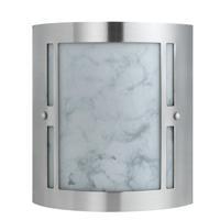 Cal Lighting LA-8509/2L Hotel 2 Light 9 inch Brushed Steel Vanity Light Wall Light