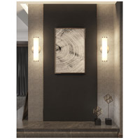 Cal Lighting LA-8606-1 Brentwood LED 5 inch Brushed Steel Vanity Light Wall Light