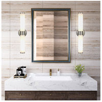 Cal Lighting LA-8606-2 Brentwood LED 5 inch Brushed Steel Vanity Light Wall Light