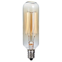 Cal Lighting LB-7155-40W Edison Incandescent T8 E12 40 watt 2040K Bulb