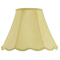 Cal Lighting SH-8105/16-CM Bell Champagne 16 inch Shade Spider Vertical Piped Scallop
