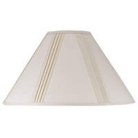 Cal Lighting SH-1003-OW Coolie Off White 19 inch Shade Round