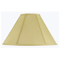 Cal Lighting SH-8101/21-CM Coolie Champagne 21 inch Shade Spider Vertical Piped Basic